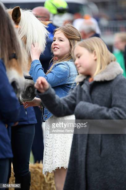 Princess Alexia of The Netherlands and Princess Ariane of The Netherlands seen during King's Day , the celebration of the birthday of the Dutch King,...