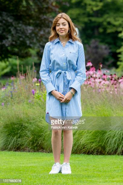 Princess Alexia of The Netherlands during the annual summer photocall at their residence Palace Huis ten Bosch on July 17, 2020 in The Hague,...