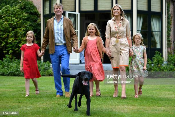 Princess Alexia of the Netherlands, King Willem-Alexander of the Netherlands, Crown Princess Catharina-Amalia of the Netherlands, Queen Maxima of the...