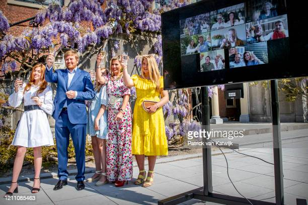 Princess Alexia of The Netherlands, King Willem-Alexander of The Netherlands, Princess Ariane of The Netherlands, Queen Maxima of The Netherlands and...