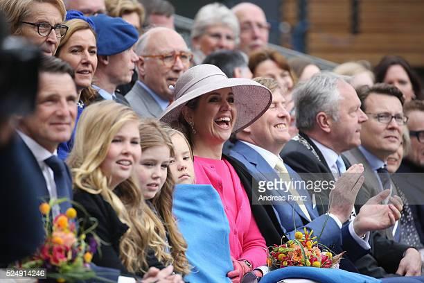 Princess Alexia of The Netherlands Princess Ariane of The Netherlands Queen Maxima of The Netherlands and King WillemAlexander of The Netherlands...