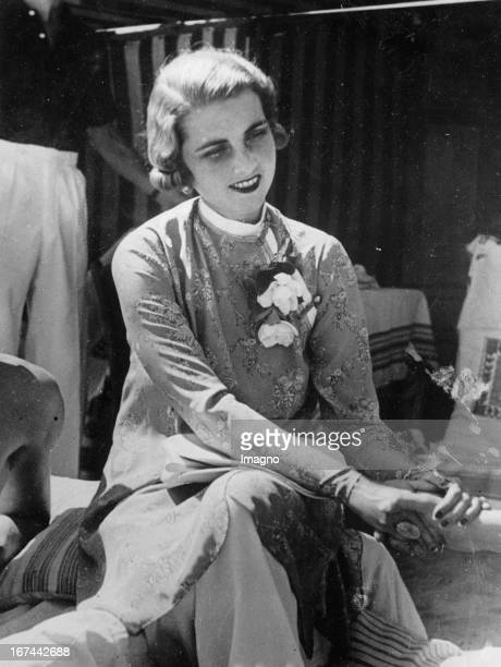 Princess Alexis Mdivani at the Lido in Venedig Photograph 1934 Prinzessin Alexis Mdivani am Lido in Venedig Photographie 1934