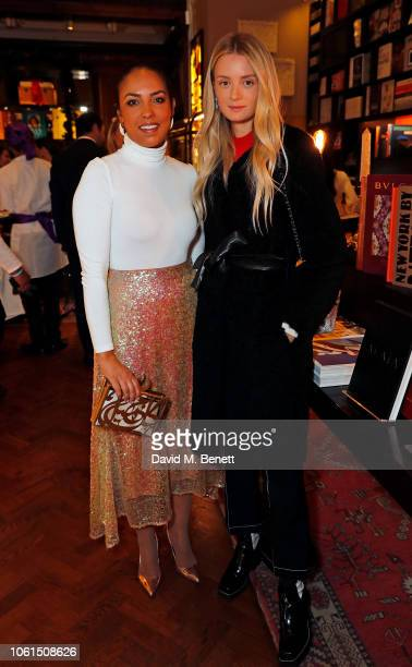 Princess Alia alSenussi and Rebecca CorbinMurray attend the private dinner and jewellery installation of Prana Collection cohosted by Noor Fares...