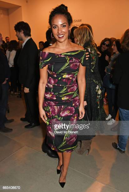 Princess Alia AlSenussi attends the Private View of 'Centrifugal Soul' by Mat Collishaw at Blain Southern on April 6 2017 in London England