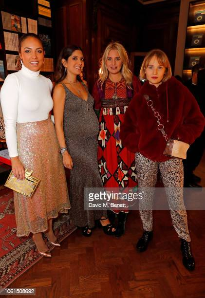Princess Alia alSenussi Noor Fares Marissa Montgomery and Petra Palumbo attend the private dinner and jewellery installation of Prana Collection...