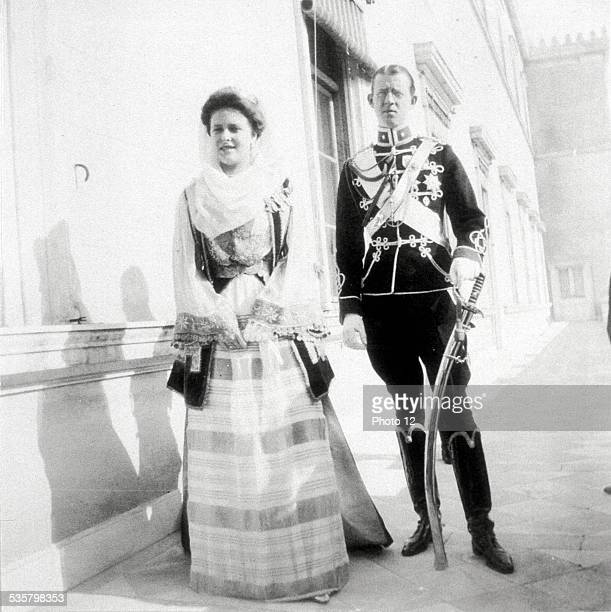 Princess Alice , daughter of Prince Louis of Battenberg, and Prince Andrew of Greece , Married in Darmstadt, 1903.