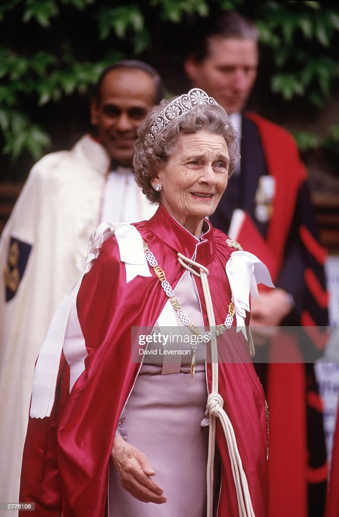 Princess Alice Duchess of Gloucester at the service for the Order of the Bath at Westminster Abbey : News Photo