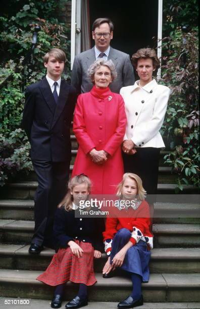 Princess Alice Duchess Of Gloucester With The Duke And Duchess Of Gloucester And Their Children The Earl Of Ulster Lady Rose Windsor And Lady Davina...