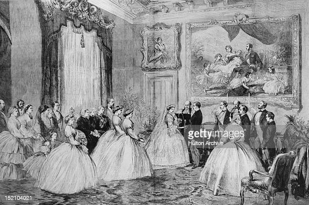 Princess Alice of the United Kingdom marries Louis IV Grand Duke of Hesse at Osborne House on the Isle of Wight 1st July 1862 Alice is the third...