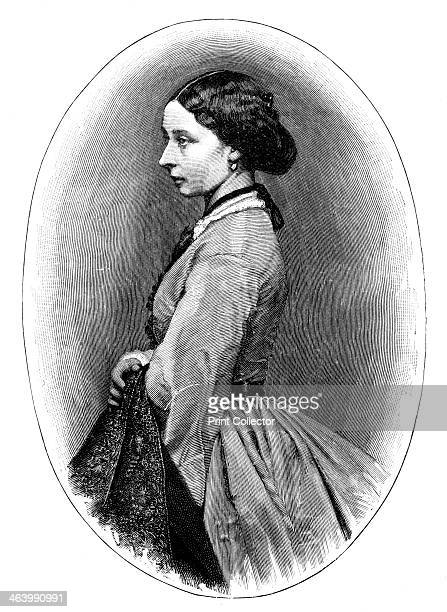 Princess Alice Portrait of Alice daughter of Queen Victoria Engraving from a photograph Illustration from The Life Times of Queen Victoria by Robert...