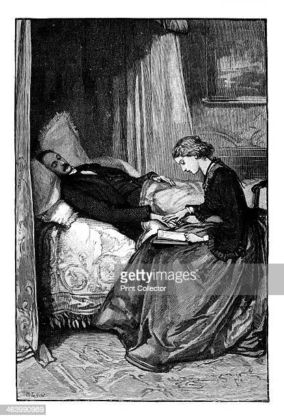 Princess Alice reading to her father Prince Albert c1850s Princess Alice reading to Prince Albert husband of Queen Victoria Illustration from The...