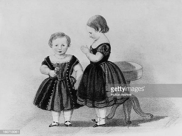 Princess Alice the third child of Queen Victoria and Prince Albert and future Grand Duchess of Hesse with her younger brother Prince Alfred 1848 A...