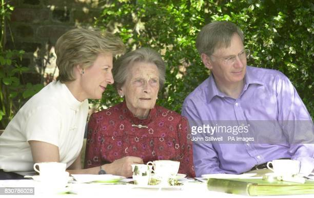 Princess Alice with her son the Duke of Gloucester and daughter-in-law the Duchess of Gloucester. Princess Alice, the Queen's aunt and dowager...
