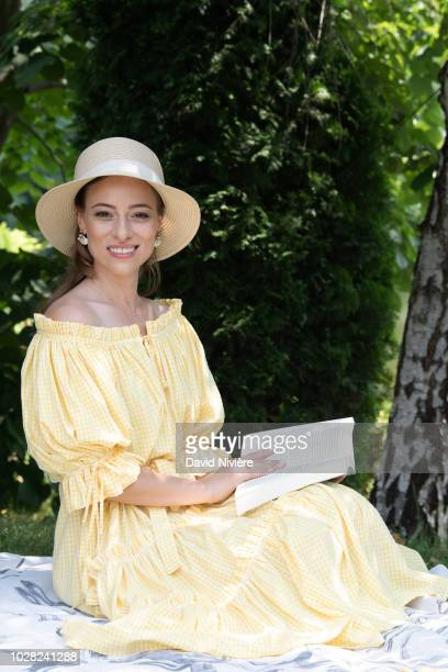 Princess Alina Of Romania poses during a summer photo session in a public park on August 04 2018 in Bucharest Romania