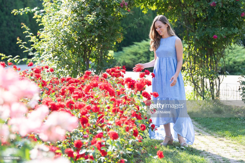 Princess Alina Of Romania poses during a summer photo session in a public garden on August 06, 2018 in Budapest, Romania.