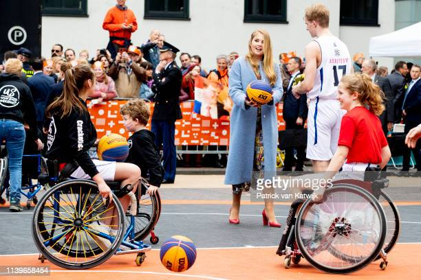 Princess Amalia of The Netherlands attend the Kingsday Celebration on April 27 2019 in Amersfoort Netherlands