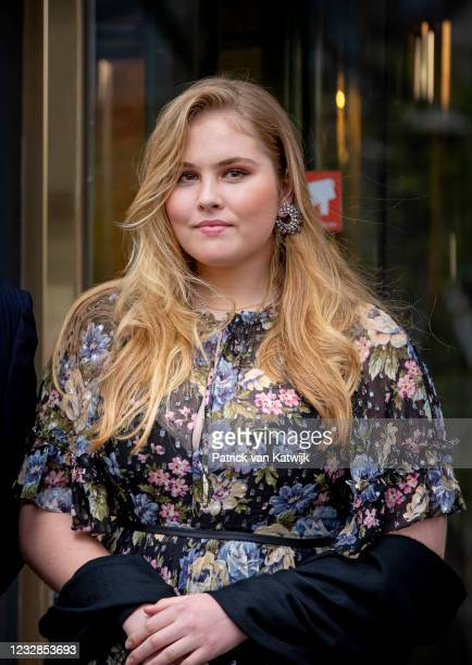 Princess Amalia of The Netherlands attends the concert Queen Maxima a life full of Music on the occasion of her 50th birthday in theater Carre on May...