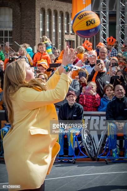 Princess Amalia of The Netherlands attends the King's 50th birthday during the Kingsday celebrations on April 27 2017 in Tilburg Netherlands