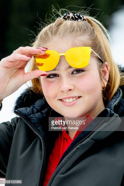 Princess Amalia of The Netherlands during the annual photo call on February 25 2020 in Lech Austria