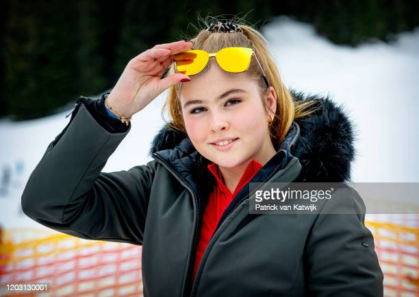 Princess Amalia of The Netherlands during the annual photo call on February 25, 2020 in Lech, Austria.