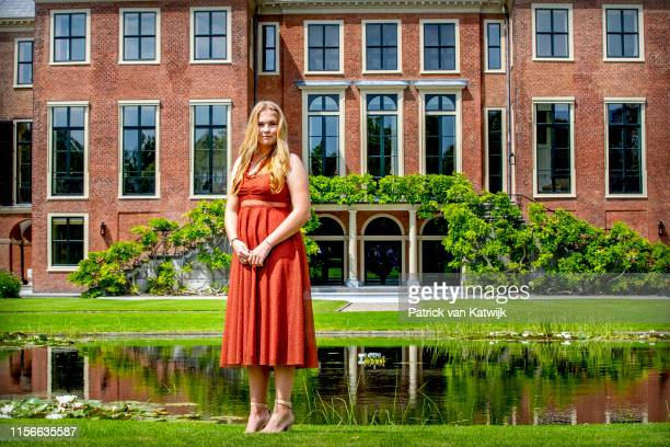 Princess Amalia of The Netherlands during their annual summer photo session at Huis ten Bosch Palace on July 19 2019 in The Hague Netherlands