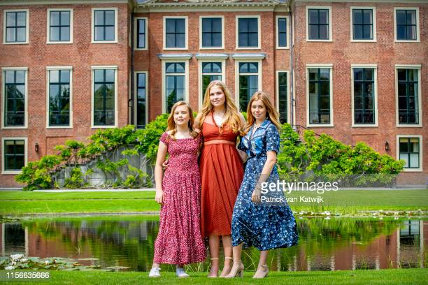 Princess Amalia of The Netherlands Princess Alexia of The Netherlands and Princess Ariane of The Netherlands during their annual summer photo session...