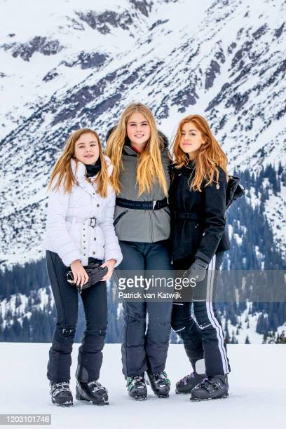 Princess Amalia of the Netherlands Princess Alexia of the Netherlands and Princess Ariane of the Netherlands during the annual photo call on February...