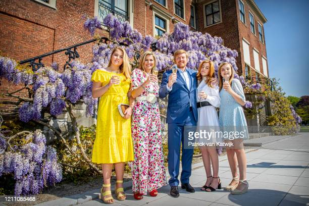 Princess Amalia of The Netherlands, Queen Maxima of The Netherlands, King Willem-Alexander of The Netherlands, Princess Alexia of The Netherlands and...