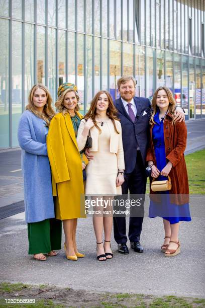 Princess Amalia of The Netherlands, Queen Maxima of The Netherlands, Princess Alexia of The Netherlands, King Willem-Alexander of The Netherlands,...