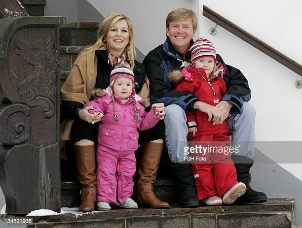 Princess Amalia Prince Willem Alexander Princess Maxima and Princess Alexia