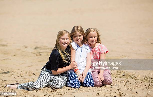 Princess Amalia, Princess Alexia and Princess Ariane of The Netherlands pose for pictures on July 10, 2015 in Wassenaar, Netherlands.