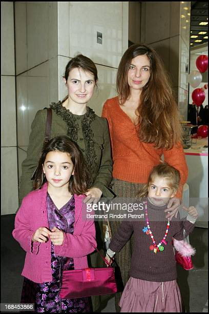 Princess Amedee De Clermont Tonnerre and Capucine De Rochambeau Melanie CartierBresson and daughter Natasha at The Arop Christmas Production Of Reve...