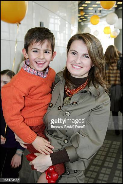 Princess Amedee De Clermont Tonnerre and son Stanislas Arop Gala at the Bastille Opera for Reve D'Enfants Coppelia Ballet by Patrice Bart
