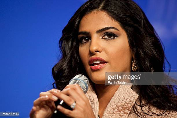 Princess Ameerah AlTaweel VP of the board of Alwaleed Bin Talal Foundation speaks at the Clinton Global Initiative annual meeting in New York on...