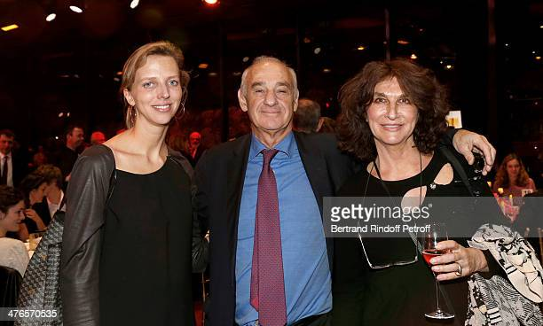 Princess Amelie de BourbonParme Henri Weber and Fabienne ServanSchreiber attend the Martine Aublet Foundation gala dinner at the Musee Du Quai Branly...