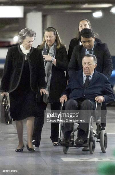 Princess Ana of France , Cristina of Borbon Dos Sicilias and Carlos of Borbon Dos Sicilias attend the funeral chapel for Prince Kardam of Bulgaria on...