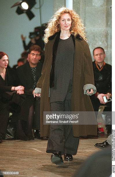 Princess Anabelle D'Huard at theYohji Yamamoto Menswear Catwalk Autumn Winter 98/99 Collection.