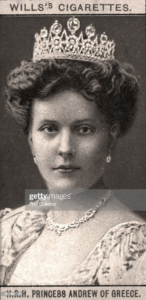 H.R.H Princess Andrew of Greece, 1908.Artist: WD & HO Wills : News Photo