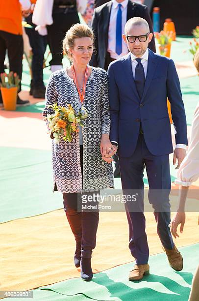 Princess Anette and Prince Bernhard attend King's Day celebrations on April 26 2014 in De Rijp Netherlands