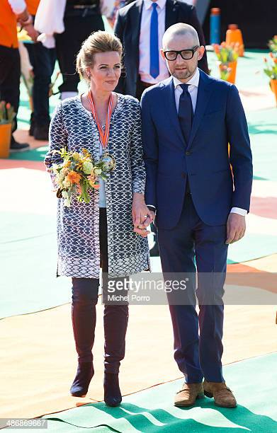 Princess Anette and Prince Bernhard attend King's Day on April 26 2014 in De Rijp Netherlands