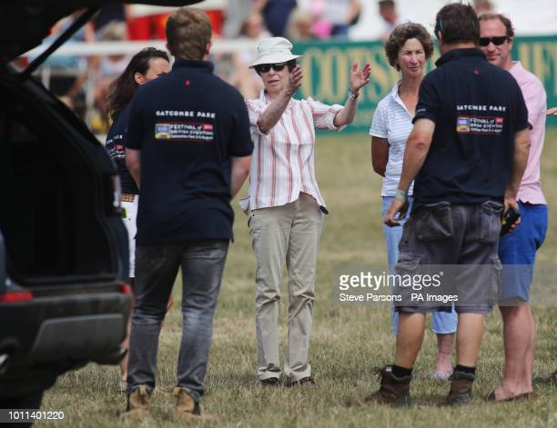 Princess Ann attends the Festival of British Eventing at Gatcombe Park Gloucestershire