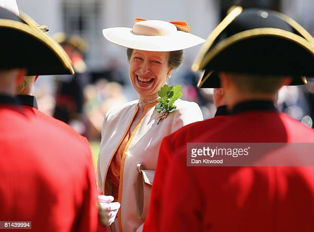 Princess Ann, Princess Royal inspects Chelsea Pensioners during the 'Founders Day Parade' at Chelsea Royal Hospital, on June 5, 2008 in London,...