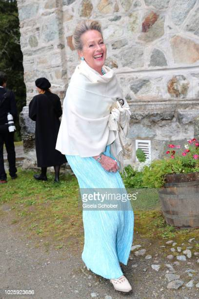 Princess Anna in Bayern during the wedding of Prince Konstantin of Bavaria and Deniz Kaya at the french church 'Eglise au Bois' on September 1 2018...
