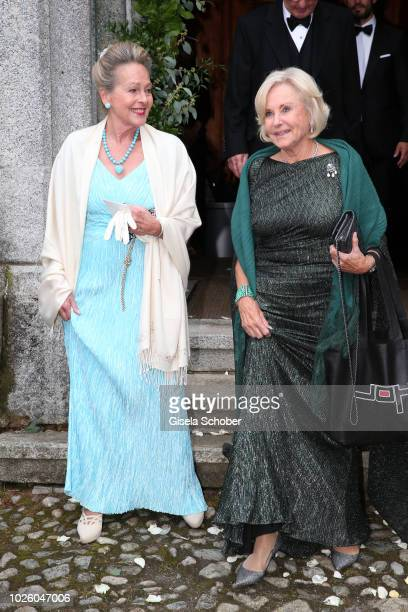 Princess Anna in Bayern of Bavaria and Inge WredeLanz during the wedding of Prince Konstantin of Bavaria and Princess Deniz of Bavaria born Kaya at...