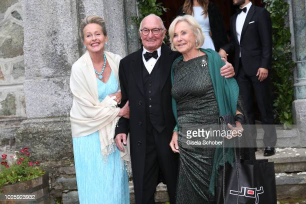 Princess Anna in Bayern Peter Lanz and his wife Inge WredeLanz during the wedding of Prince Konstantin of Bavaria and Deniz Kaya at the french church...