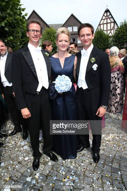 Princess Anna von Bayern and her husband Prince Manuel von Bayern and her brother Prince AugustFrederik zu SaynWittgensteinBerleburg sister and...