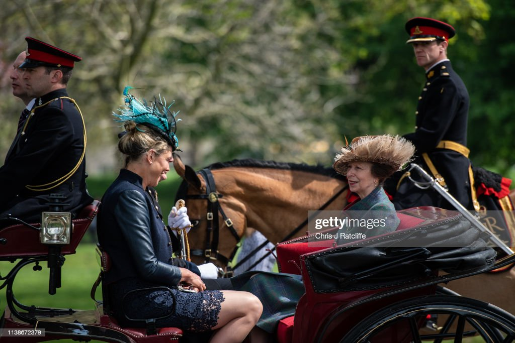 GBR: The Royal Horse Artillery Fires A 41 Salute To Mark Queen Elizabeth's 93rd Birthday