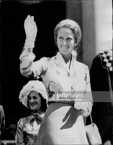 Princess Anne arriving at the Town Hall February 28 1974