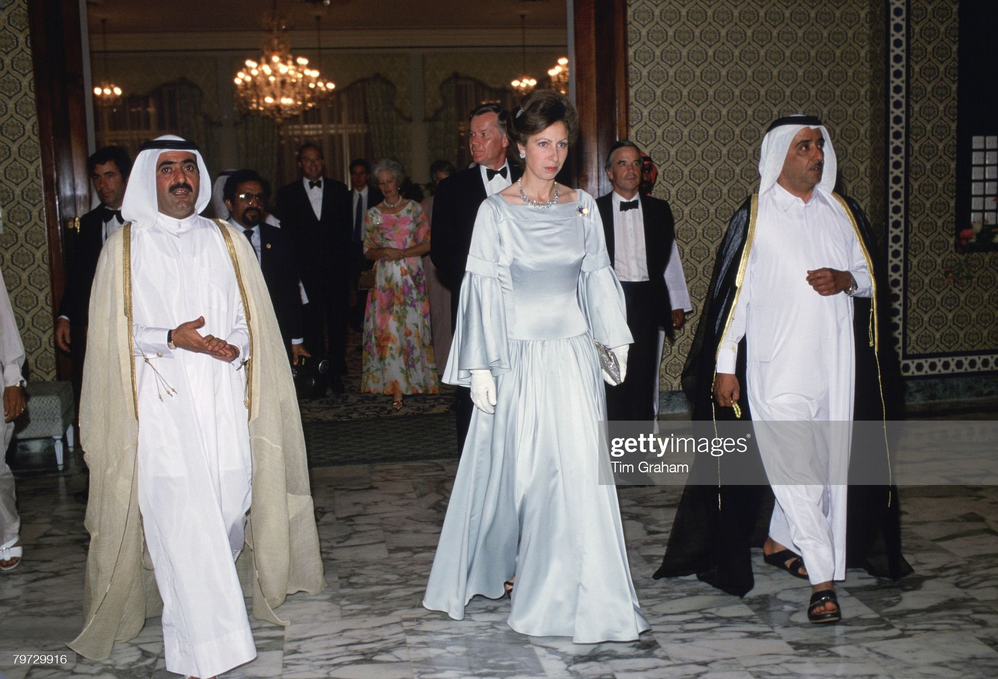 Princess Anne arriving for a banquet in Dubai during a royal : News Photo