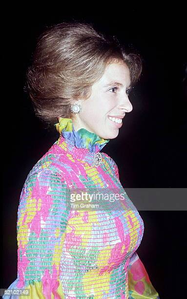 Princess Anne Arriving For A Film Premiere In London - Possibly The Royal Film Performance At The Odeon Leicester Square On 26th March 1973